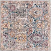 Safavieh Bristol Vintage Grey/ Blue Polyester Rug - 7' Square