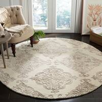 Safavieh Handmade Glamour Ivory/ Beige Viscose Rug - 6' Round