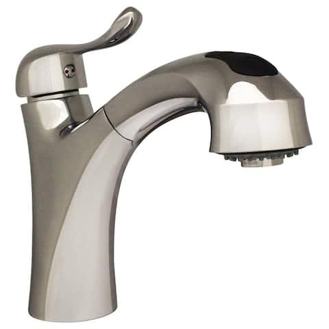Whitehaus Collection JEM Kitchen Faucet - Chrome/Clear