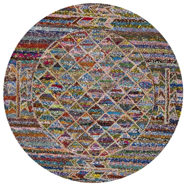 Safavieh Handmade Nantucket Bohemian Multi Cotton Rug (6' Round)