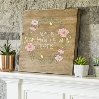 """Home 16"""" Rustic Wood Sign"""