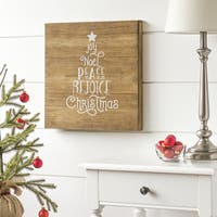"Christmas Tree 16"" Rustic Wood Sign"
