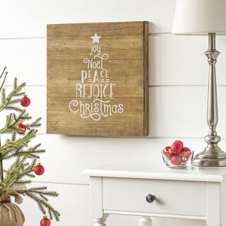 "Christmas Tree 16"" Rustic Wood Sign"