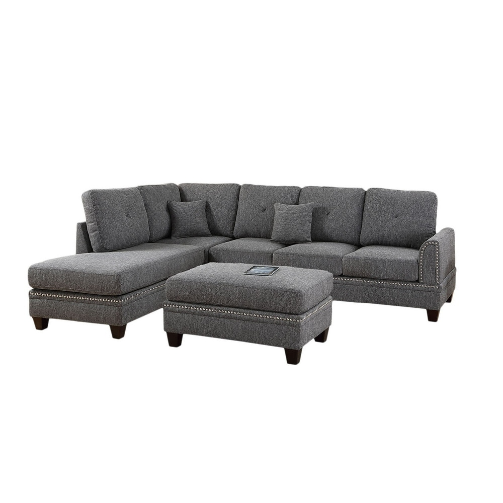 Black Sectional Sofas Online At Our Best Living Room Furniture Deals