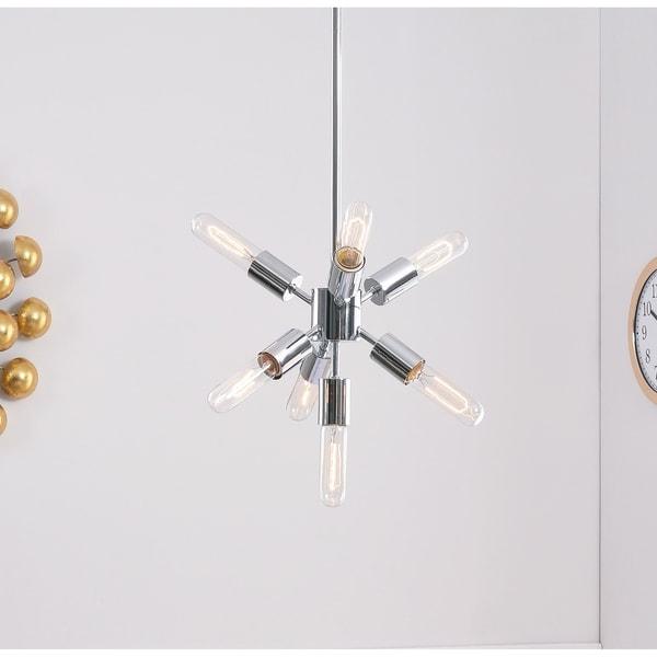Design Craft Electrode Chrome-finish Metal 7-light Chandelier