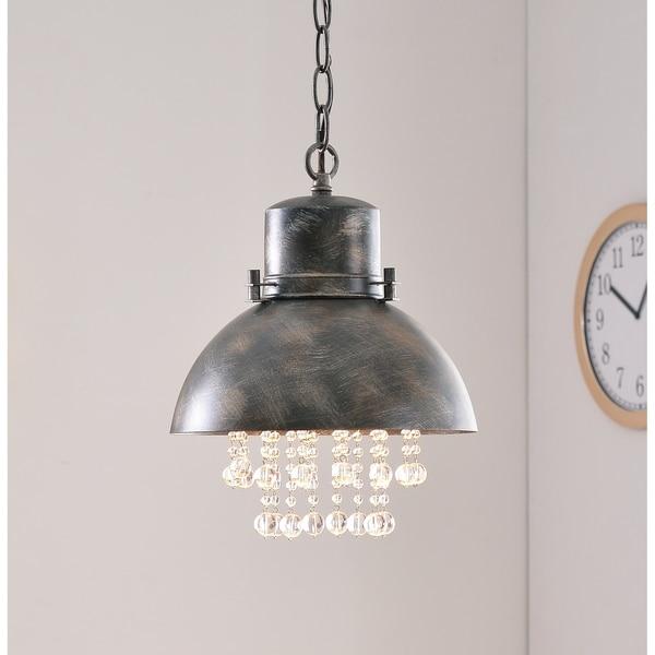 Design Craft Aniston Corroded Metal 1 Light Mini Pendant