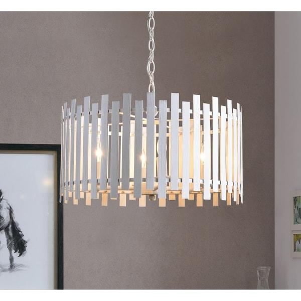 Design Craft Jones White 4 Light Pendant
