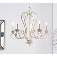 Nicola Weathered White 5 Light Chandelier