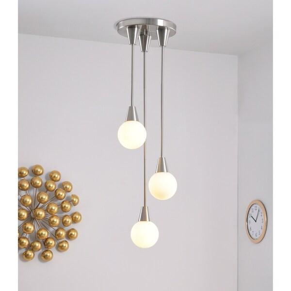 Design Craft Vince Brushed Steel 3 Light Pendant