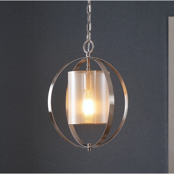 Design Craft Halo Brushed Steel 1-light Mini Pendant
