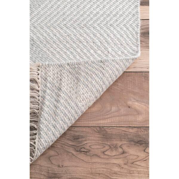 Nuloom Ivory Diamond Trellis Wool