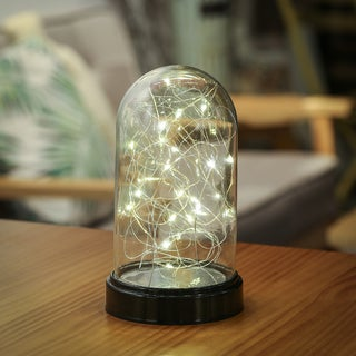LED Glass Dome w/ Black Base