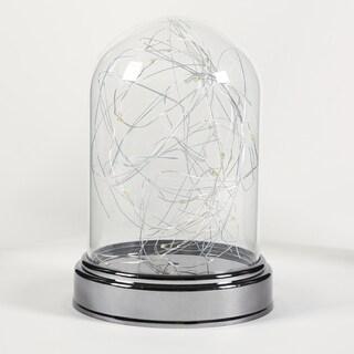 LED Glass Dome w/ Chrome Base