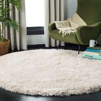 Safavieh Handmade Shag Pearl Polyester Rug - 6' Round