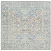 Safavieh Windsor Vintage Seafoam/ Blue Cotton Rug - 6' Square