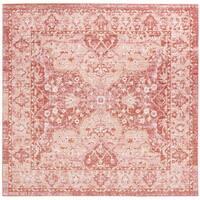 Safavieh Windsor Vintage Rose/ Red Cotton Rug - 6' Square