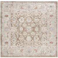 Safavieh Windsor Vintage Brown/ Ivory Cotton Rug (6' Square)