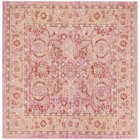Safavieh Windsor Vintage Pink/ Orange Cotton Rug - 6' Square