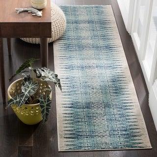 Safavieh Evoke Ivory/ Turquoise Rug - 2' 2 x 11'
