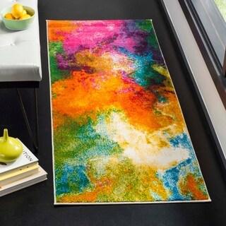 Safavieh Watercolor Orange/ Green Rug (2' 2 x 6')