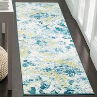 Safavieh Watercolor Ivory/ Light Blue Rug - 2' 2 x 6'