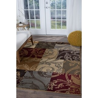 Alise Rugs Infinity Transitional Floral Area Rug - multi - 4' x 6'
