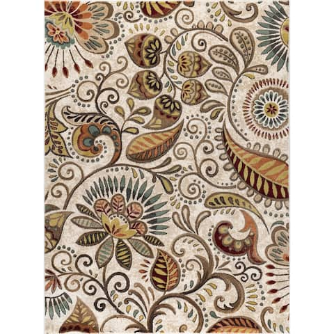 Alise Rugs Caprice Contemporary Abstract Area Rug - 9'3 x 12'6