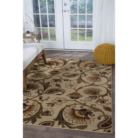 Alise Rugs Infinity Transitional Floral Area Rug - 6'7 x 9'6