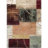 Alise Decora Multicolor Contemporary Abstract Area Rug - 9'3 x 12'6
