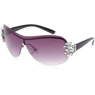 Guess Rimless GU 1111 06B Womens Black Frame Violet Lens Sunglasses