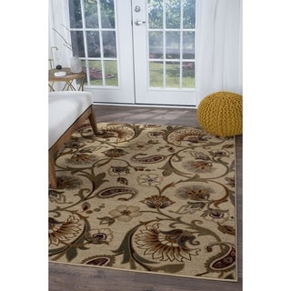 Alise Rugs Infinity Transitional Floral Area Rug - 9'3 x 12'6
