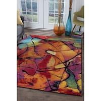 Alise Rugs Rhapsody Contemporary Abstract Area Rug - 3'11 x 5'3