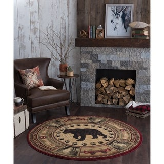 Alise Natural Novelty Lodge Area Rug - 7'10