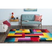 Alise Rhapsody Contemporary Abstract Area Rug (3'11 x 5'3)