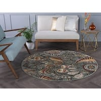Alise Caprice Contemporary Abstract Area Rug (7'10 Round)