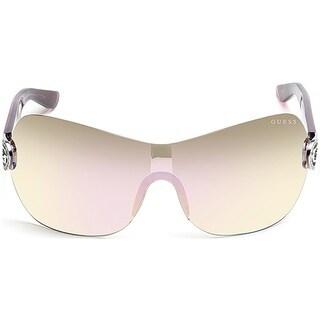 Guess Rimless GU 7407 81C Women Violet Frame Grey Lens Sunglasses