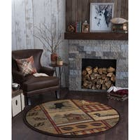 Alise Natural Novelty Lodge Area Rug (7'10 Round)