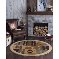 Alise Natural Novelty Lodge Area Rug (7'10 Round)