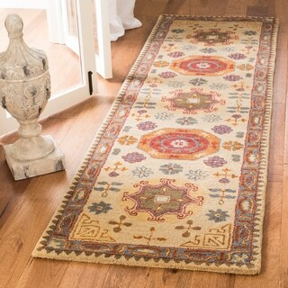 Safavieh Handmade Heritage Beige/ Multi Wool Rug (2'3 x 12')