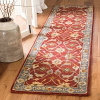 "Safavieh Handmade Heritage Red/ Blue Wool Rug - 2'3"" x 10'"