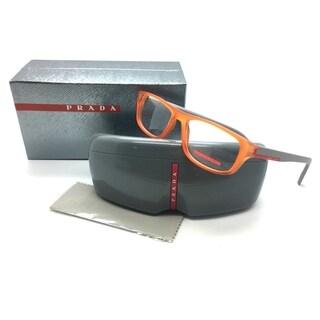 Prada Sport Orange Eyeglasses VPS 06G UFL 1O1 52 mm Rectangle Italy
