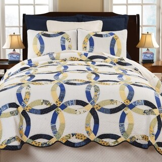 Provence Wedding Ring Twin 2 Piece Quilt Set