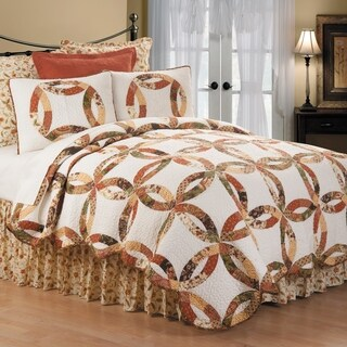 Aurelia Wedding Ring Twin 2 Piece Quilt Set