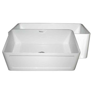 Whitehaus Collection Glossy Fireclay Front Apron Farmhouse Sink (3 options available)