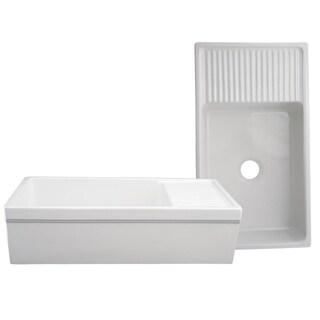 Whitehaus Collection Fireclay Quatro Alcove Sink