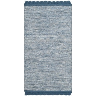 Safavieh Hand-Woven Montauk Blue Cotton Rug (2'3 x 7')
