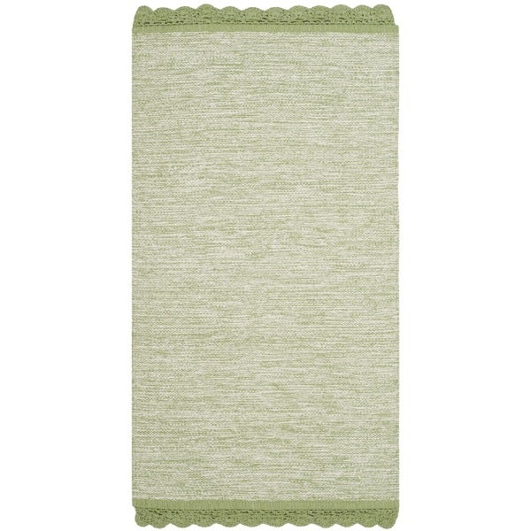 Shop Safavieh Hand-Woven Montauk Green Cotton Rug