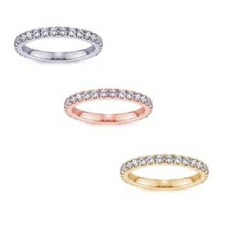 14K Gold 1-1 1/6 CT Round Diamond Split Prong Eternity Band|https://ak1.ostkcdn.com/images/products/18735518/P24810299.jpg?impolicy=medium