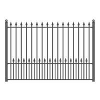 ALEKO Munich Style Ornamental Iron Wrought Garden Fence 8'x5' Black