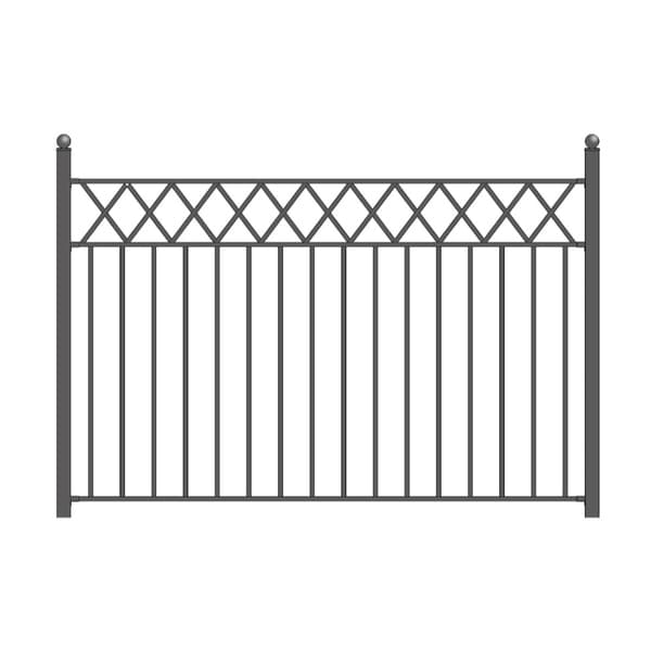 ALEKO Iron Wrought Yard Garden Privacy Fence Panel 8'x5' Black Stockholm Style. Opens flyout.
